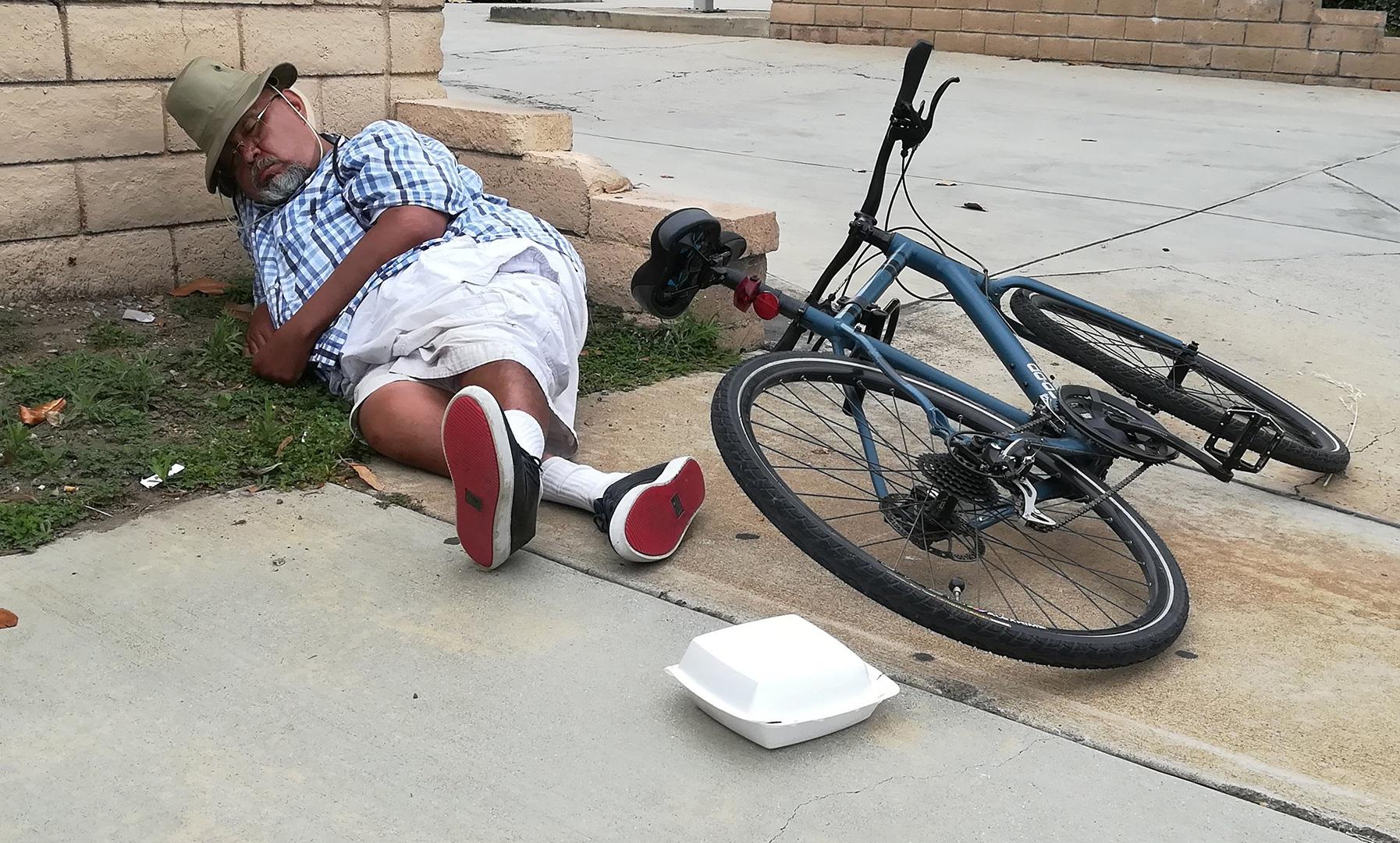 Man in slaap gevallen